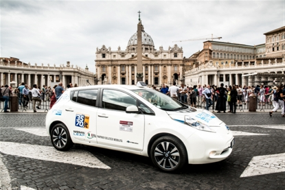 Nissan LEAF Taxi Arrives in Rome