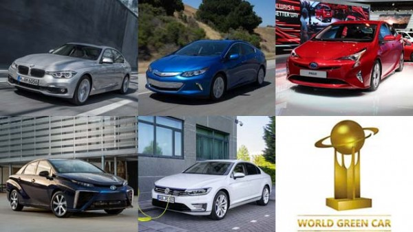 2016 World Green Car of the Year Finalists